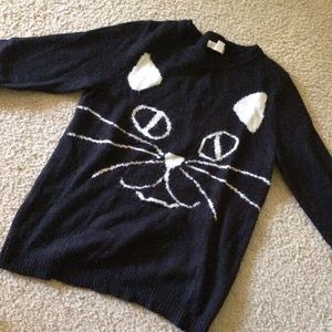 Forever 21 Sweaters - Forever 21 Black Cat Sweater